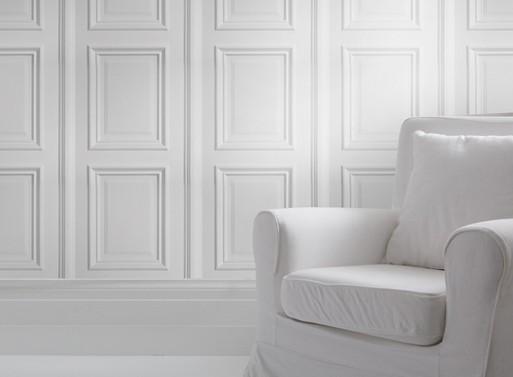 White Panelling wallpaper RENOVATE    Better Living Through Design 513x377