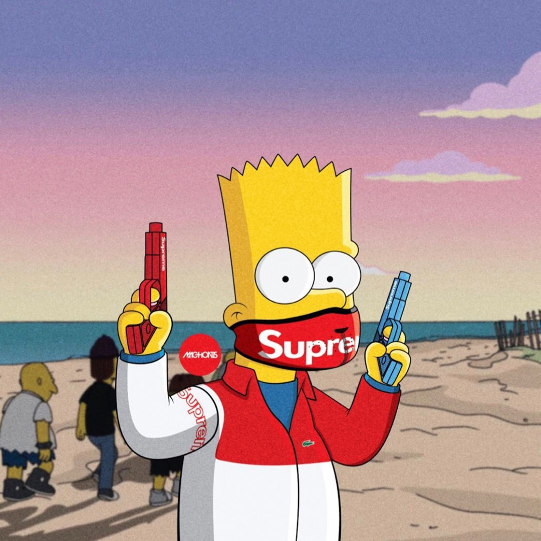 Hood Bart Simpson Supreme Wallpapers   Top Hood Bart Simpson 1080x1080