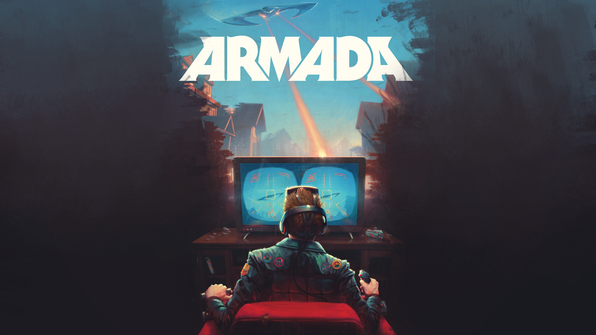 Wallpaper   Armada   Ernest Cline   Book Cover Illustration by 1920x1080