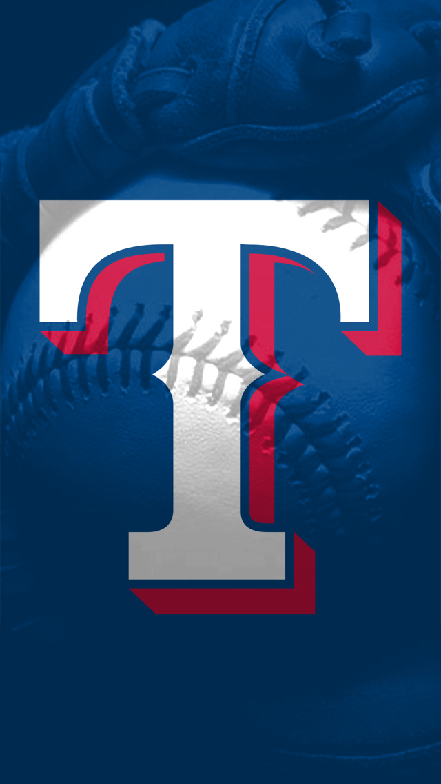 Texas Rangers logo and baseball iPhone 5 Wallpaper 640x1136 640x1136