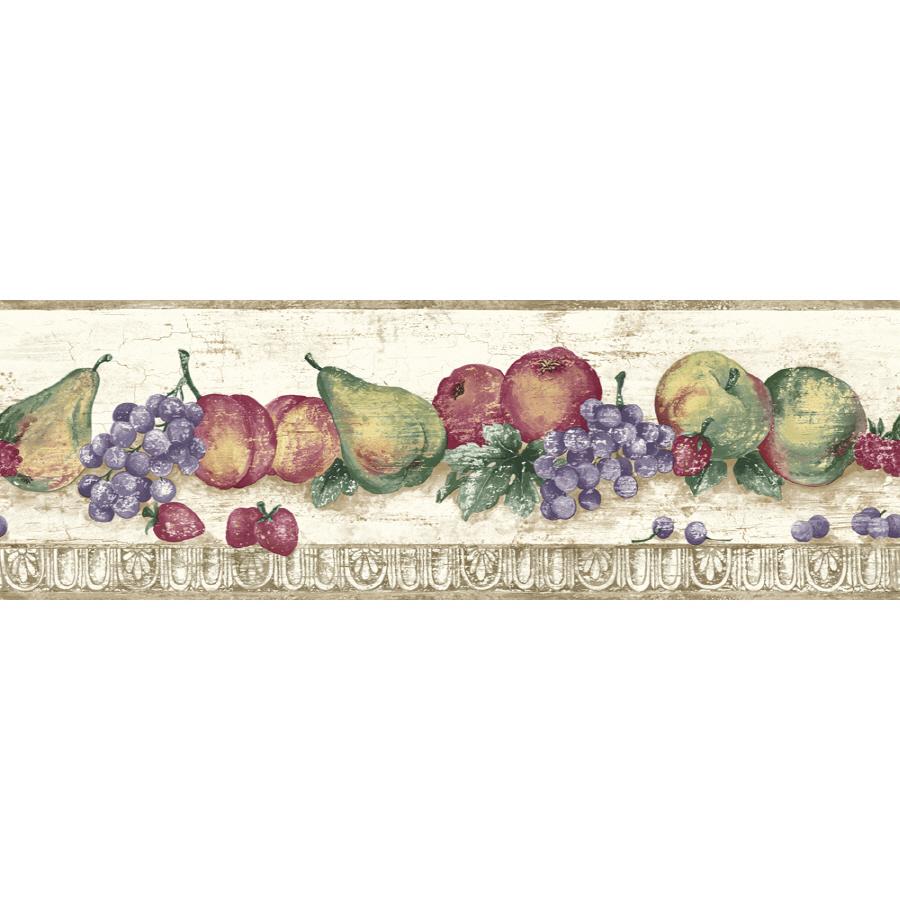 Shop Sanitas 6 78 Fruit Prepasted Wallpaper Border at Lowescom 900x900