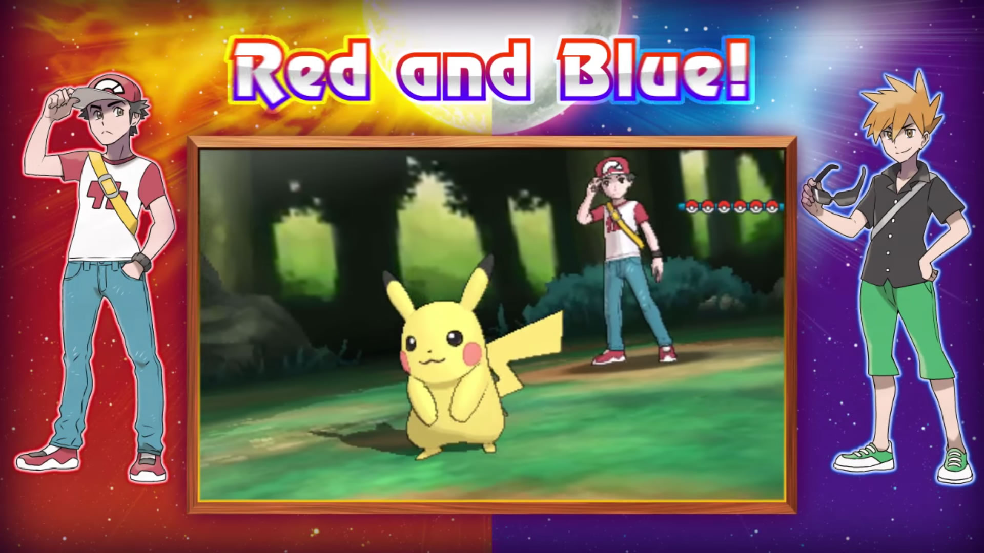 Pokemon Sun Moon Guide Facing off against Red and Blue to gain 1920x1080