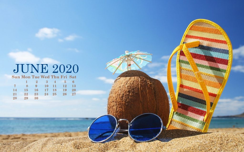 2020 HD Calendar Wallpaper 1024x640