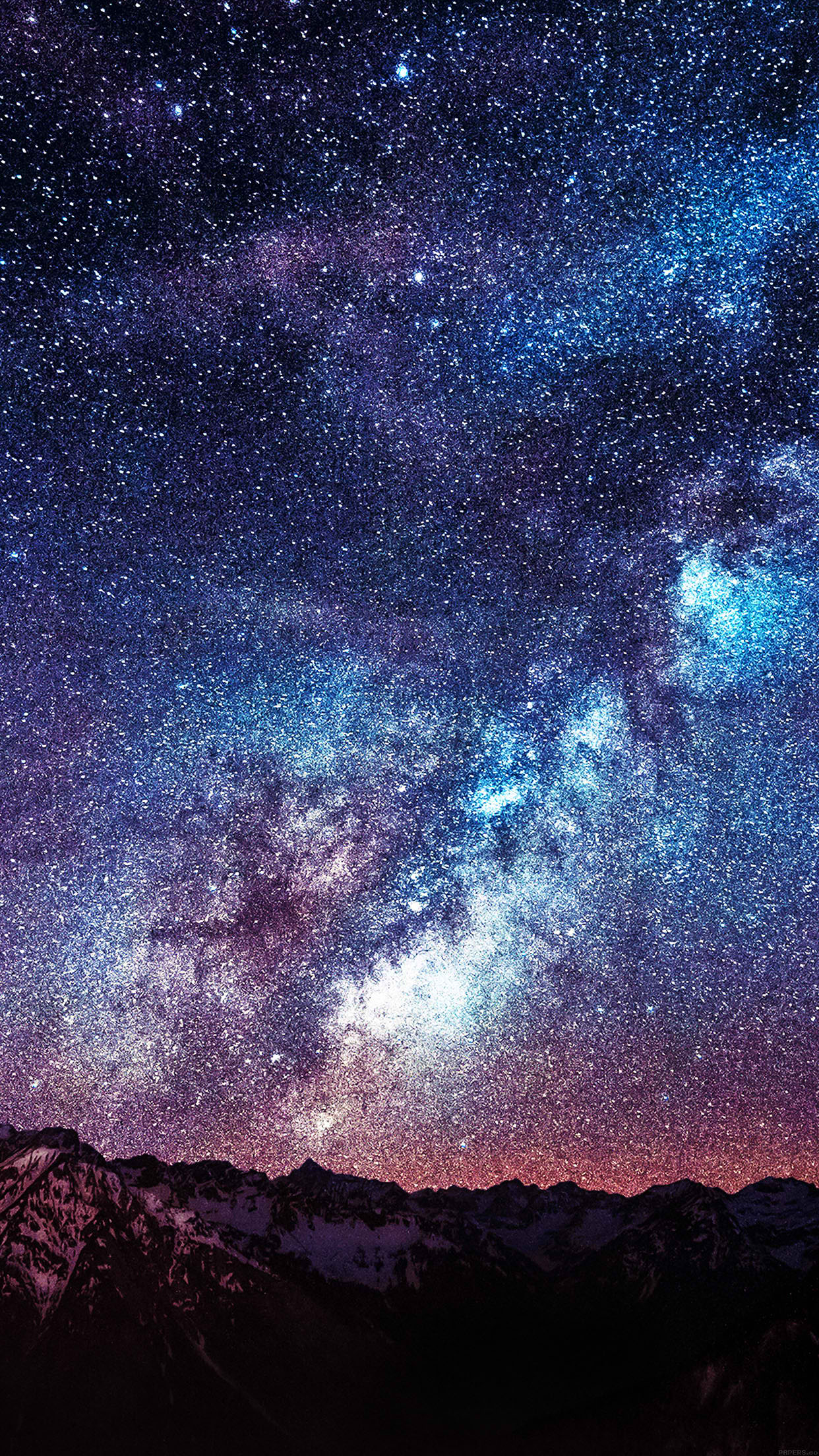 Space galaxy wallpapers for iPhone and iPad 1242x2208