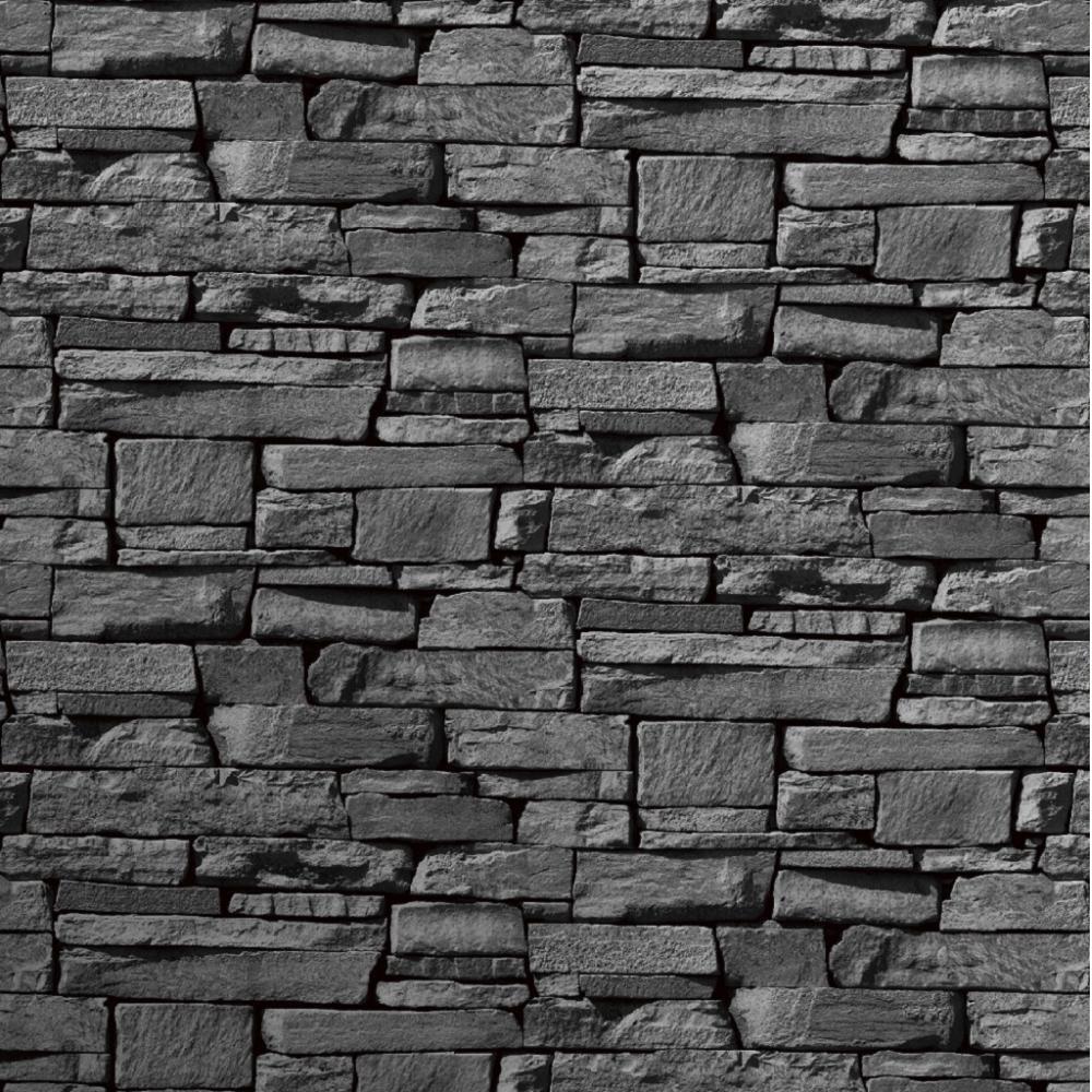 Home Wallpaper Grandeco Grandeco Dax Dry Stone Wall Slate 1000x1000