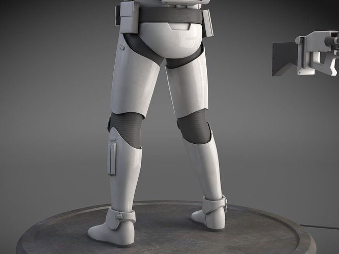 Star Wars First Order Stormtrooper Heavy 3D Model rigged max obj 667x500