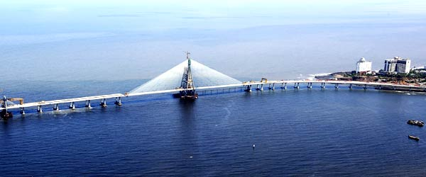 Download Architectural Marvel Bandra Worli Sea Link [600x250] | 98+