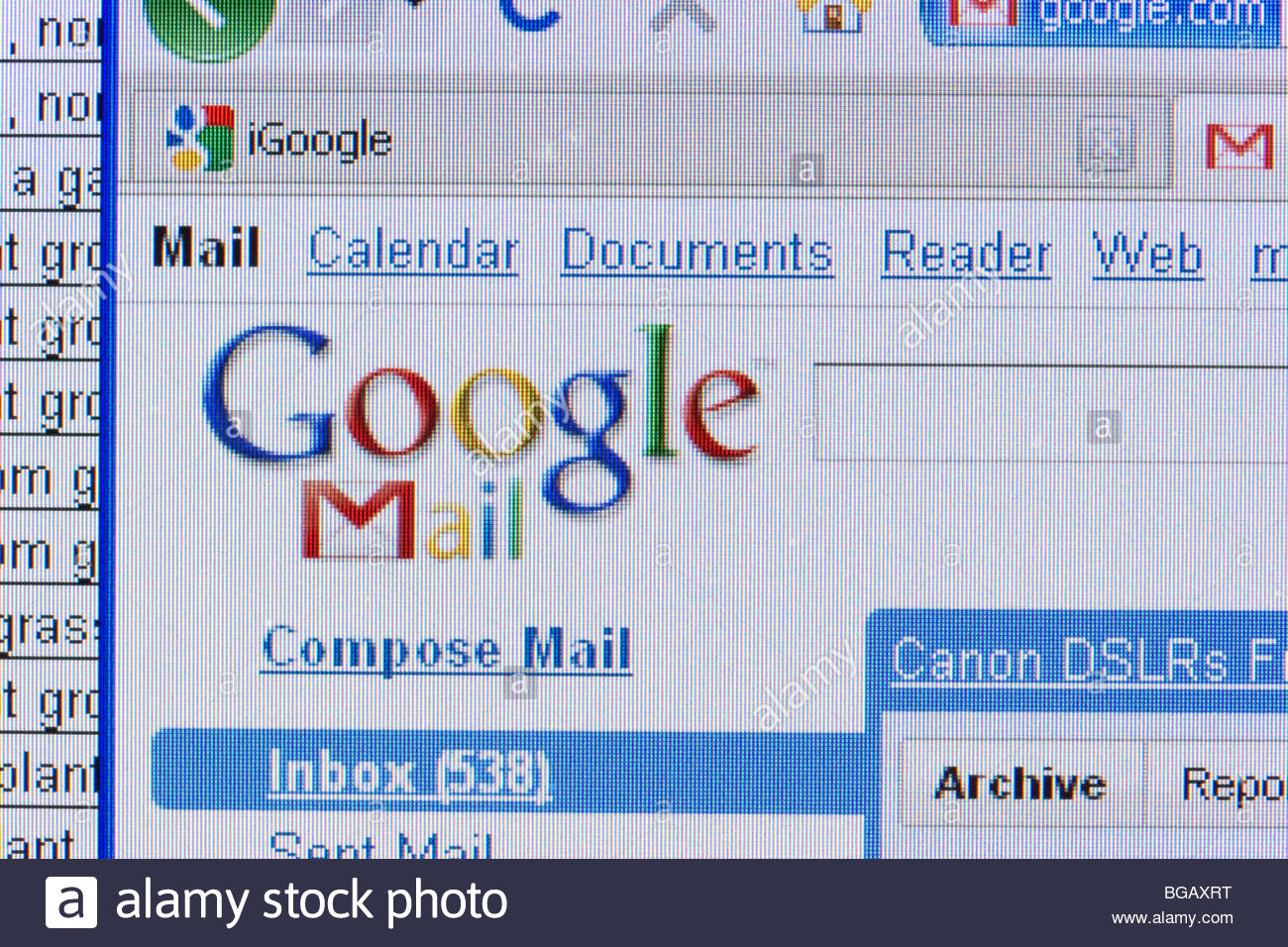 screenshot of googlemail website with spreadsheet in the 1300x956