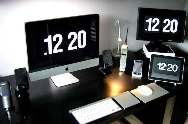 Как сделать время на макбуке