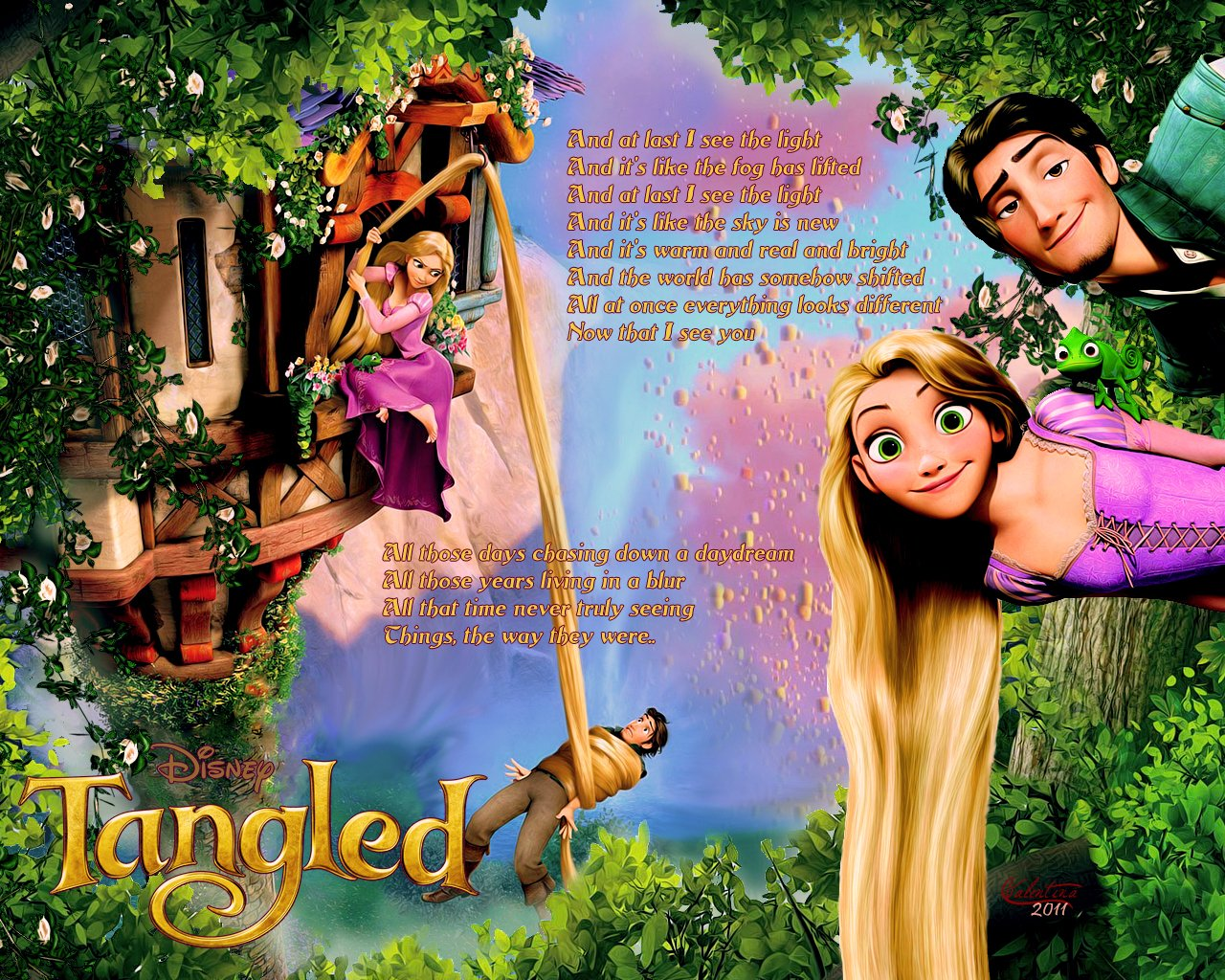 Pics Photos   Tangled Disney Rapunzel Desktop Wallpapers 1280x1024