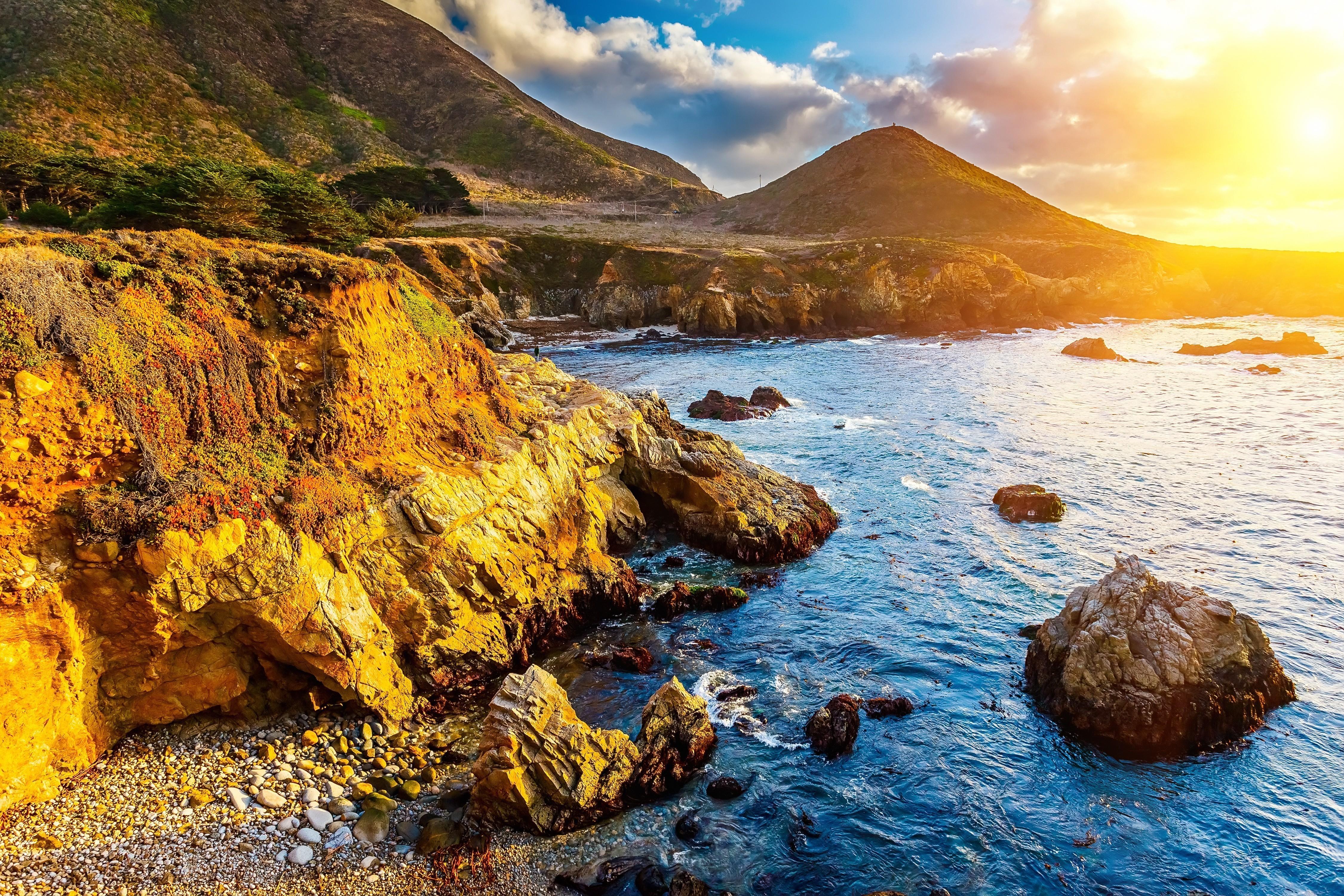 California Coast 4k Ultra HD Wallpaper Background Image 4500x3000