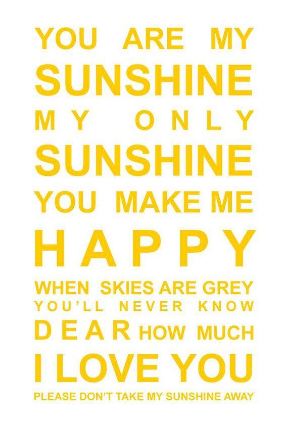 Good Morning Sunshine You Are My Sunshine : You are my sunshine wallpaper wallpapersafari