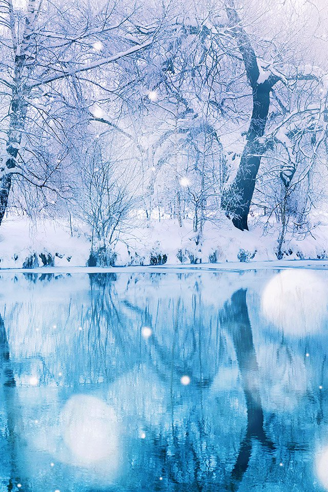 iphone 4 wallpaperFREEIOS7 snow wood parallax HD iPhone iPad wallpaper 640x960