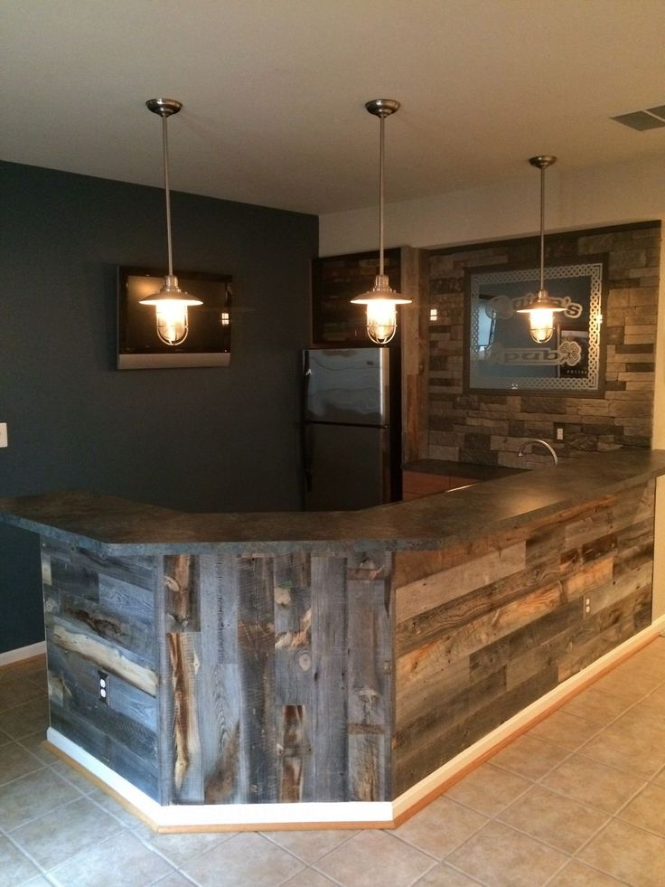 Reclaimed Weathered Wood Wood Walls Planking and Basements 736x981