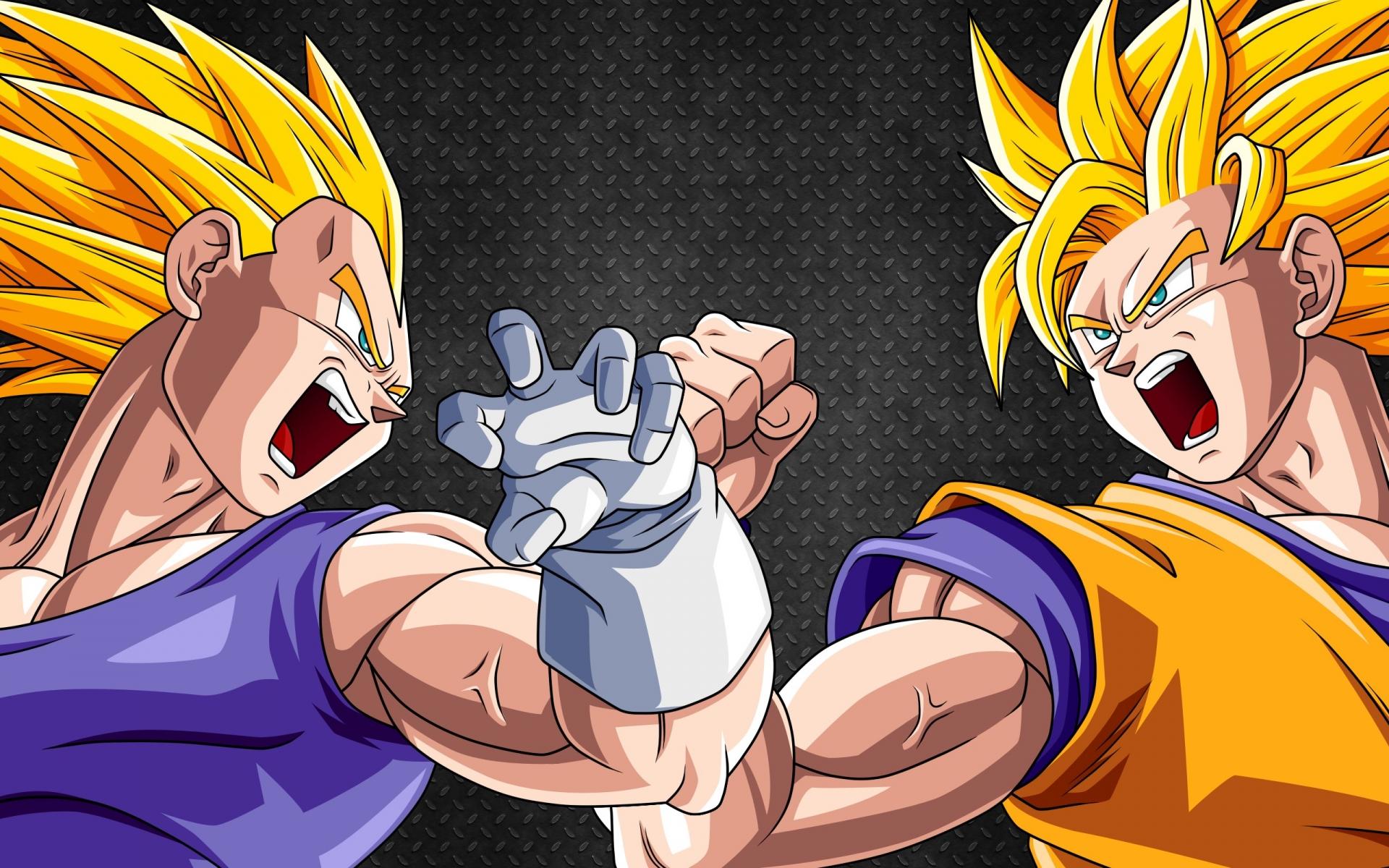 Vegeta vs Goku 1920x1200