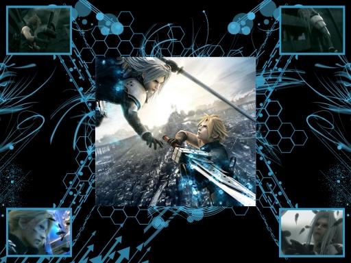 Cloud vs Sephiroth by Morbid Dollie 512x384