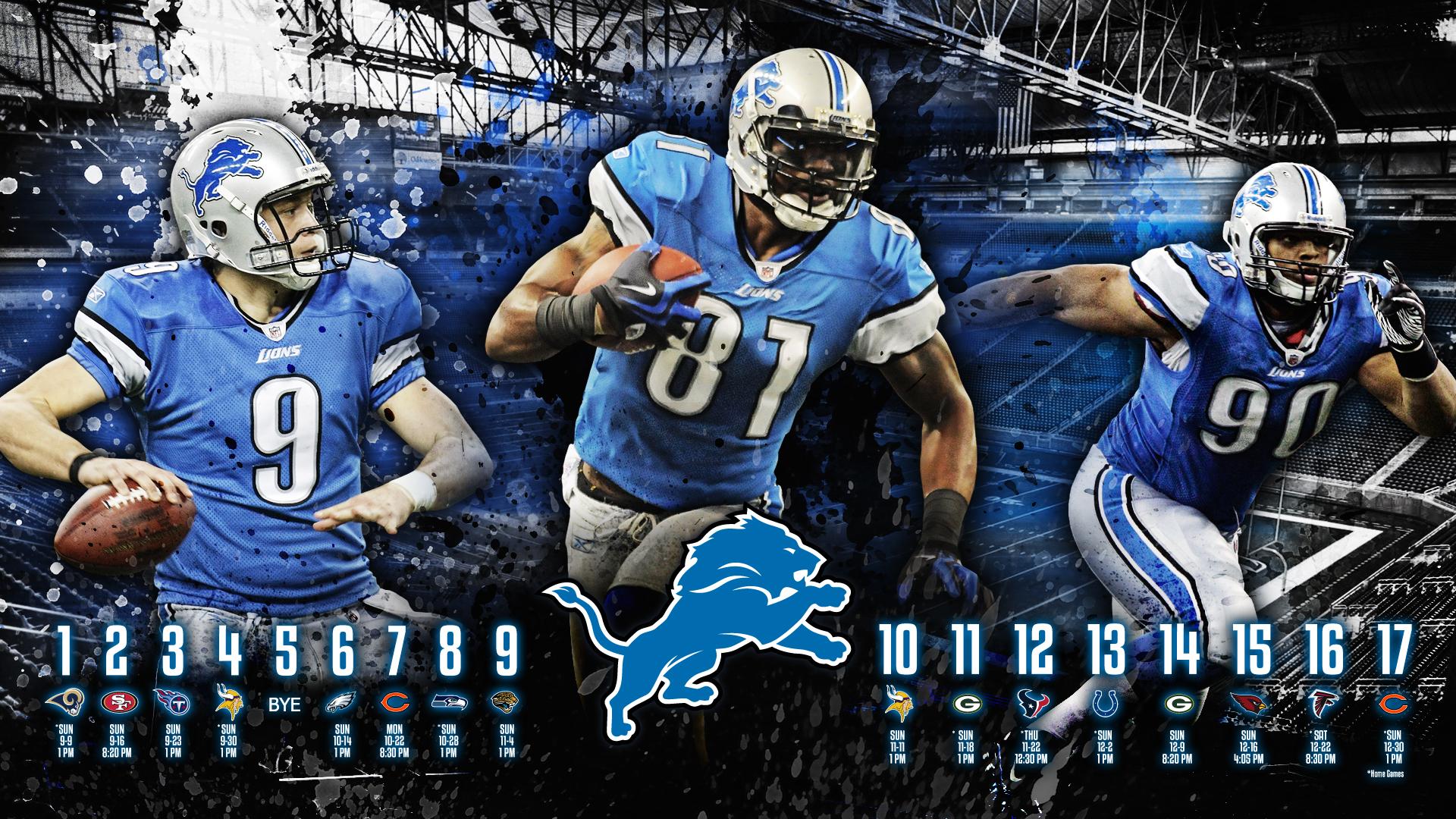 Detroit Lions HD Wallpaper   2012 Schedule by madeofglass13 on 1920x1080