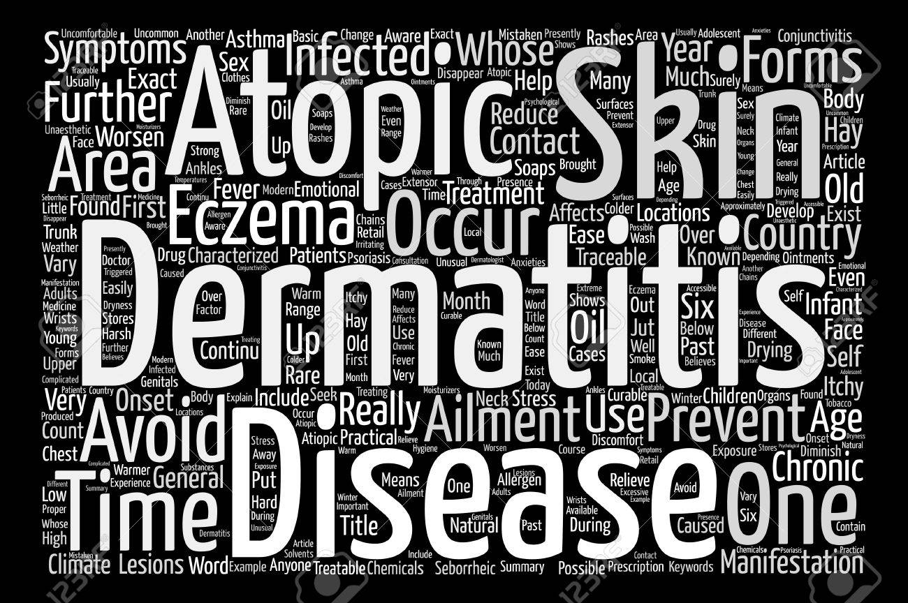 Eczema Or Atopic Dermatitis Anyone Text Background Word Cloud 1300x864