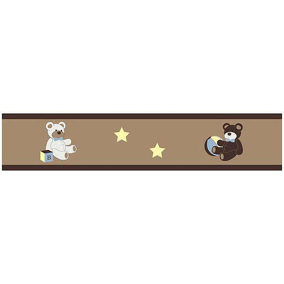 Teddy Bear Chocolate Wallpaper Border by Sweet Jojo Designs 573x573