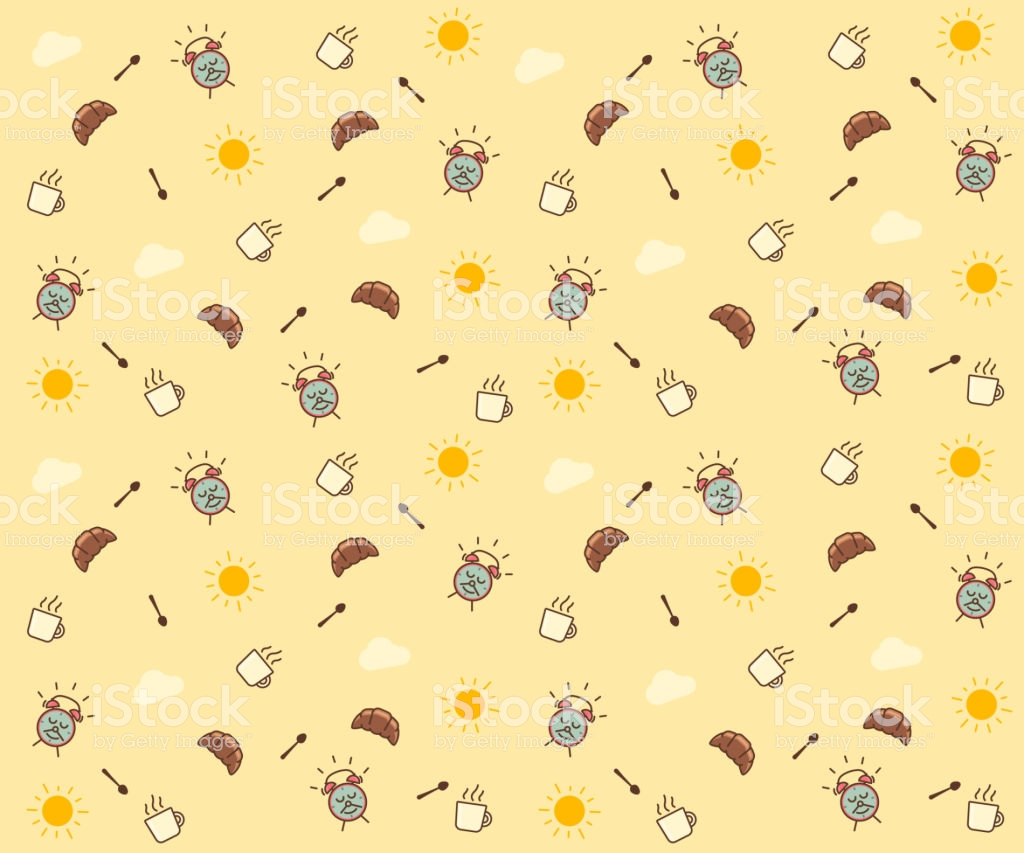 Cute Morning Seamless Pattern Background Vector Wallpaper 1024x853