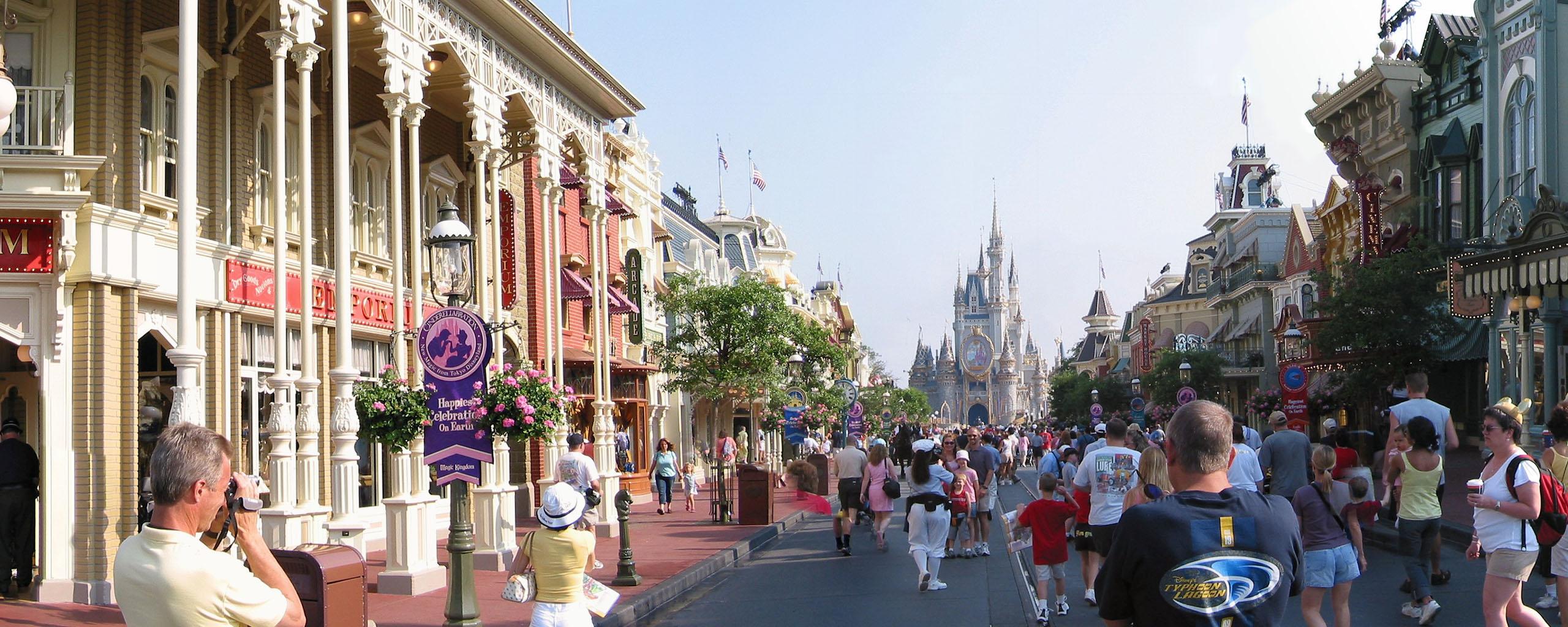 Panoramic Disneyland and Disneyworld Pictures Satellite Maps 2560x1024