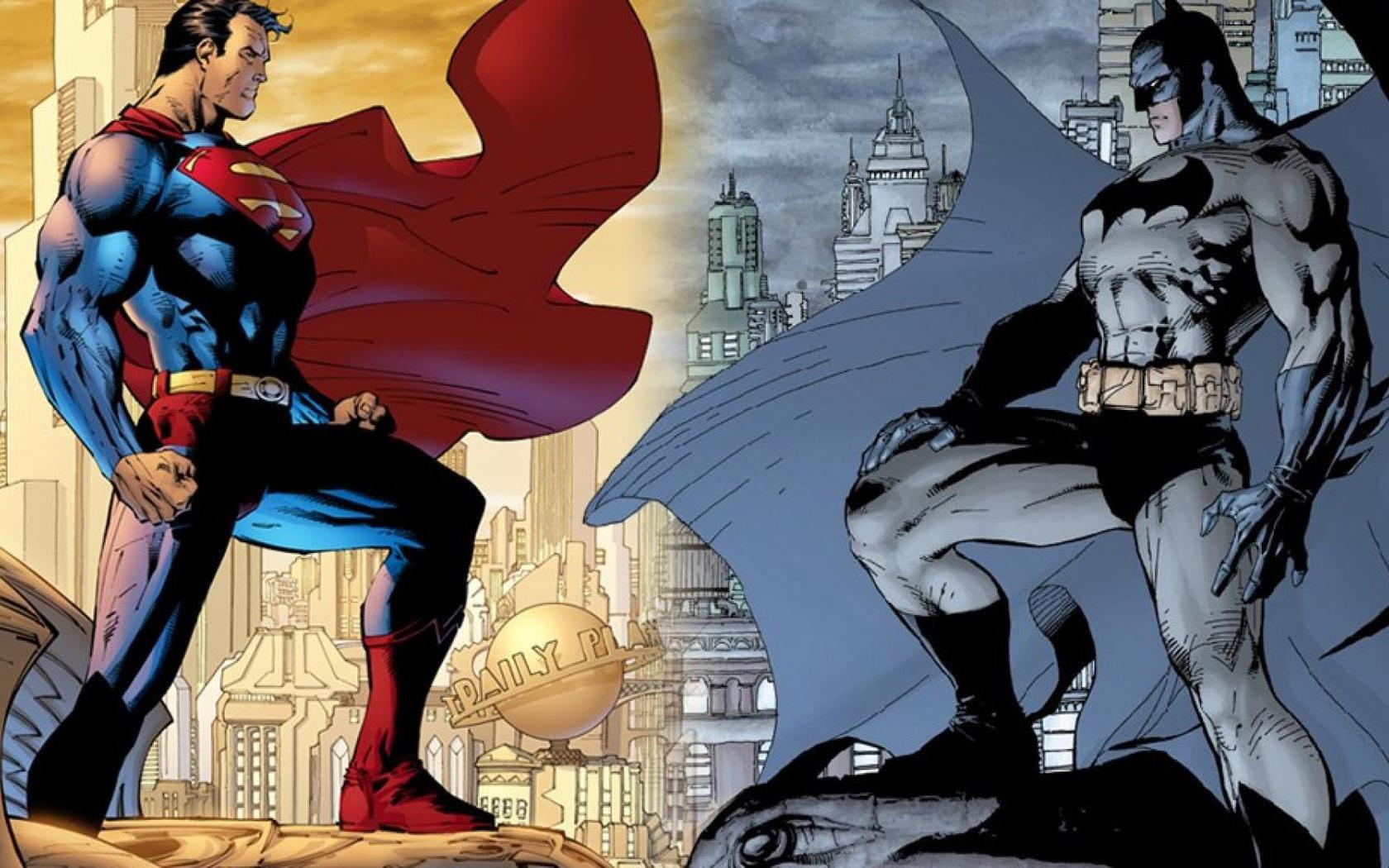 Download Batman and Superman wallpaper 1680x1050