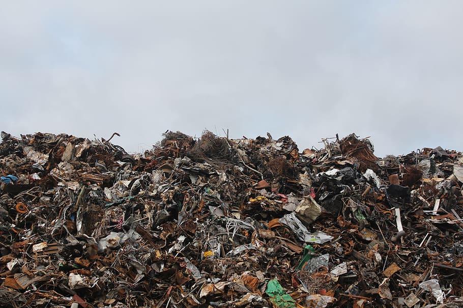 HD wallpaper pile of assorted garbage disposal dump junk 910x607