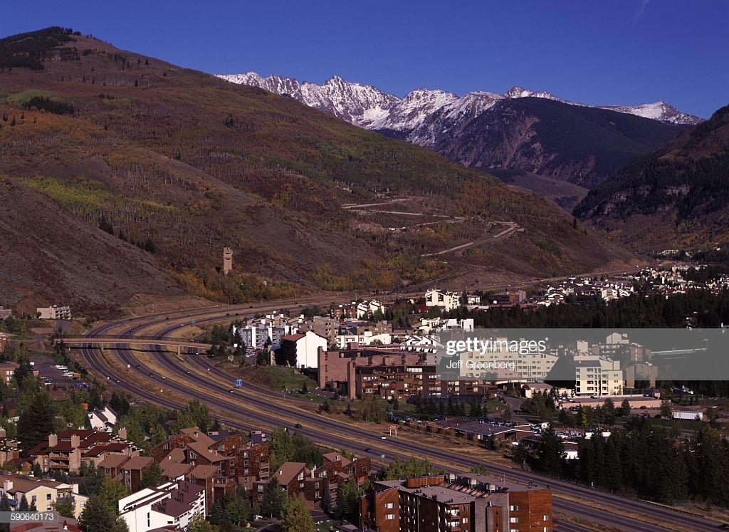Colorado Vail I 70 Running Through Town Gore Range In 1024x747