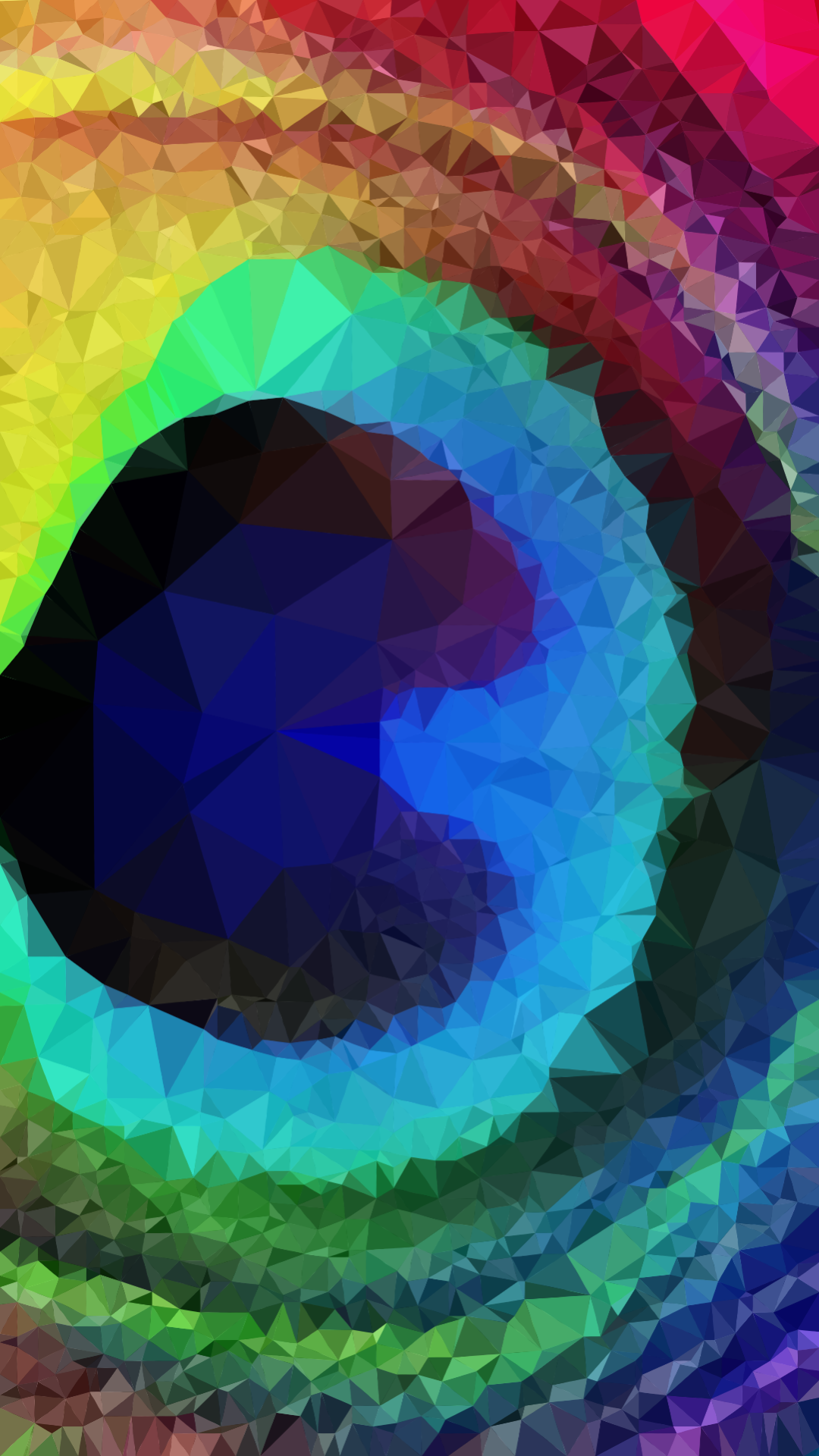 Polygon Art Rainbow Feather Wallpaper 3d poly art in 2019 1080x1920