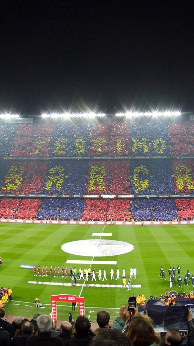 wallpapers HD   Camp Nou Barcelona Football Stadium Backgrounds 640x1136