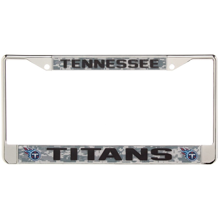 Tennessee Titans Digi Camo License Plate Frame with Black Letters 900x900
