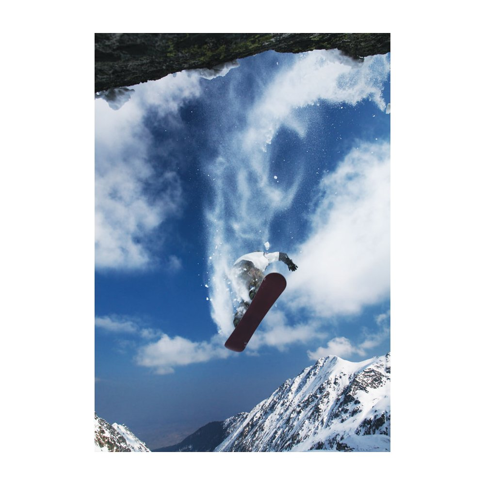 Portrait Cliff Snow Boarding Removable Wallpaper Mural Lowes Canada 1000x1000