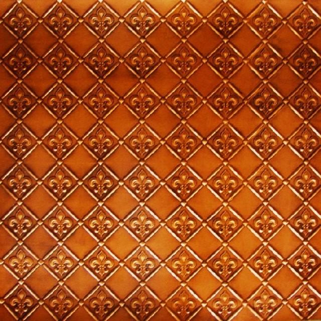 80 Faux Tin   Backsplash Roll   Fleur de Lis   3 Pattern   Wallpaper 640x640