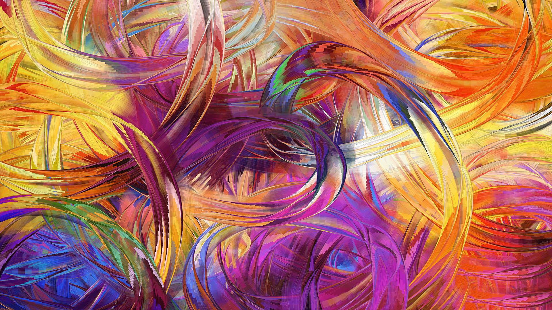 Finger Painting Art HD Wallpaper 3D Abstract Wallpapers 1920x1080
