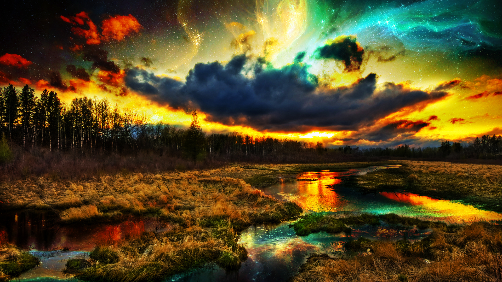 Sci fi landscape wallpaper wallpapersafari - 10k wallpaper nature ...