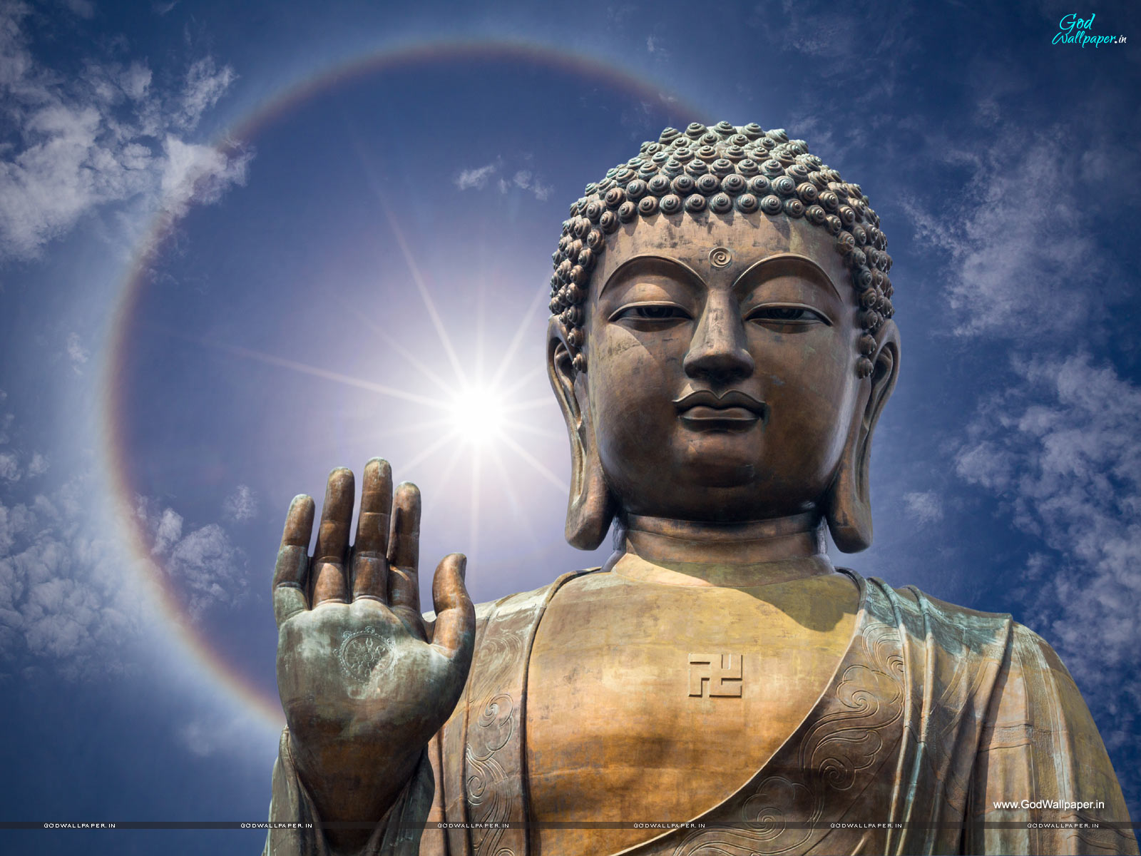 Buddha Mural Wallpaper Download 1600x1200