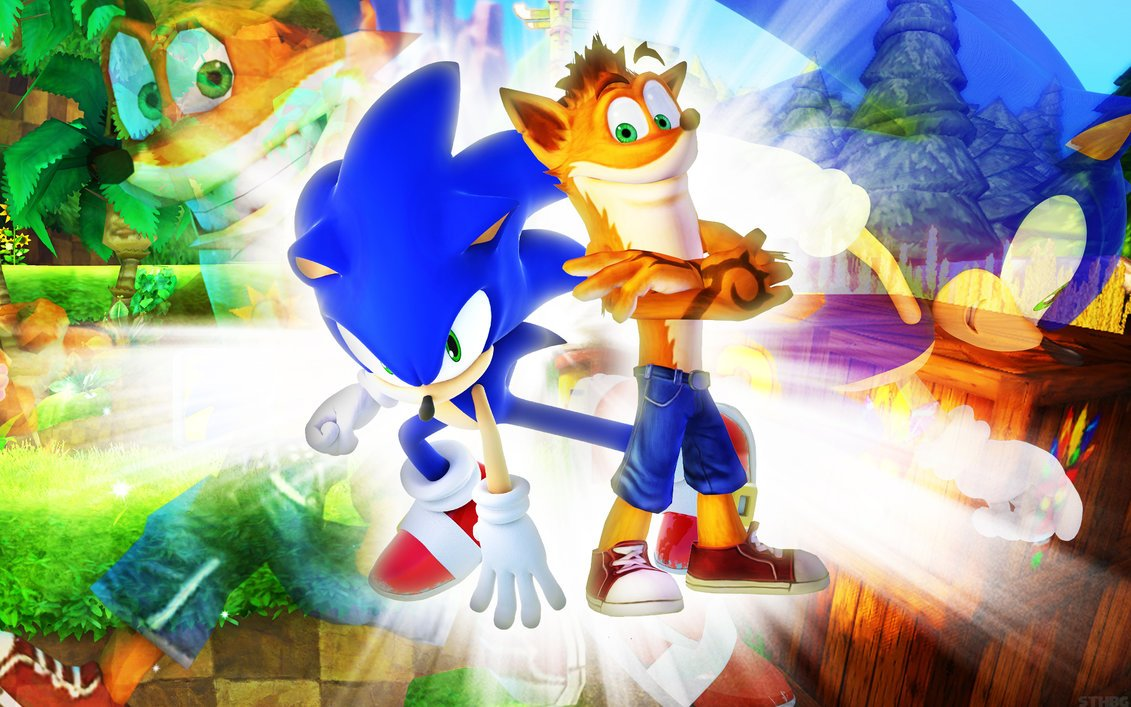 Sonic The Hedgehog And Crash Bandicoot