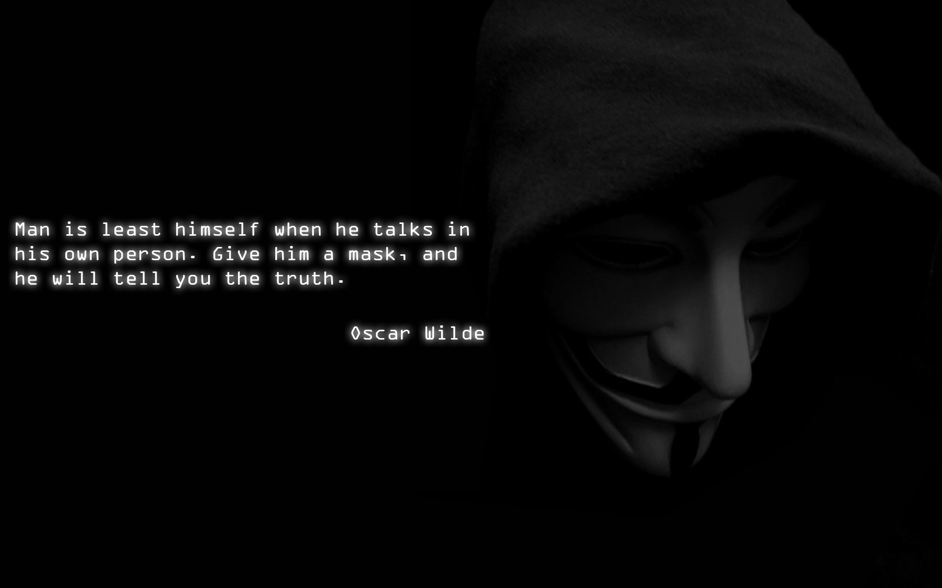Anonymous wallpaper Just added a quote[1920x1200] 1920x1200