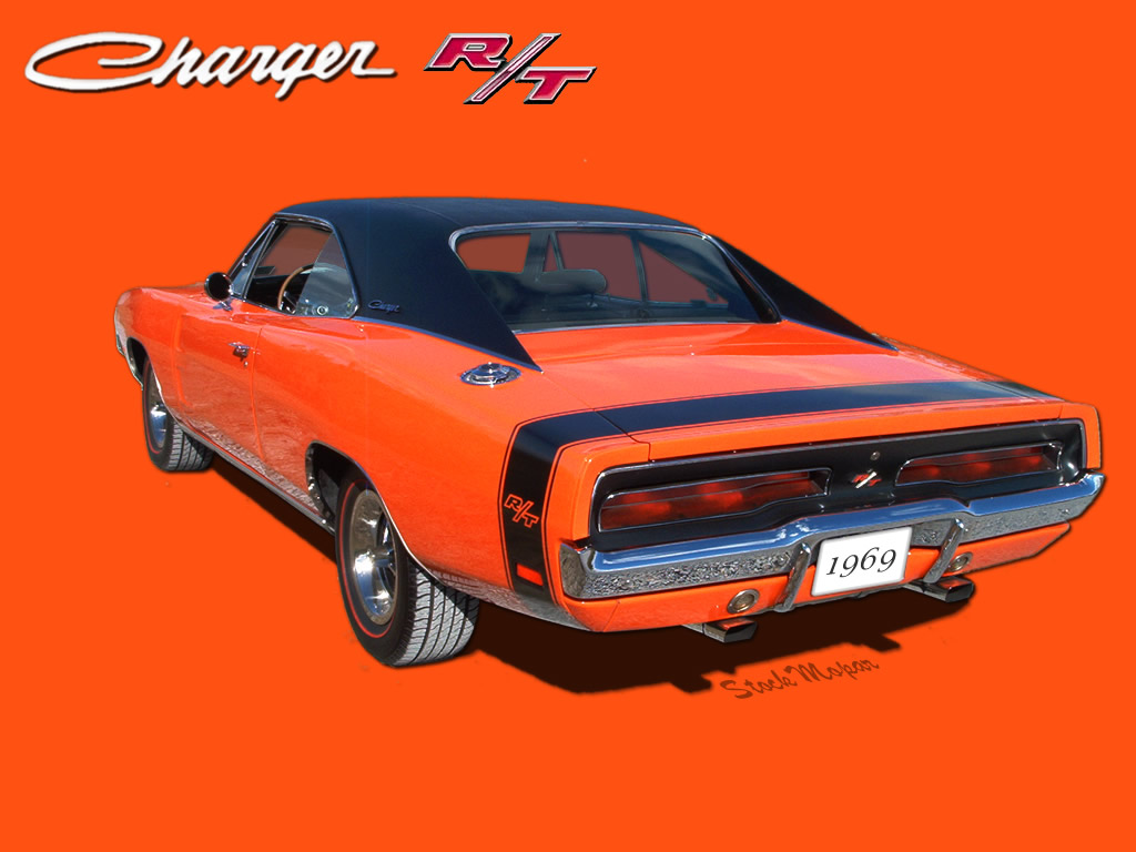 1969 Dodge Charger Wallpaper 1024x768