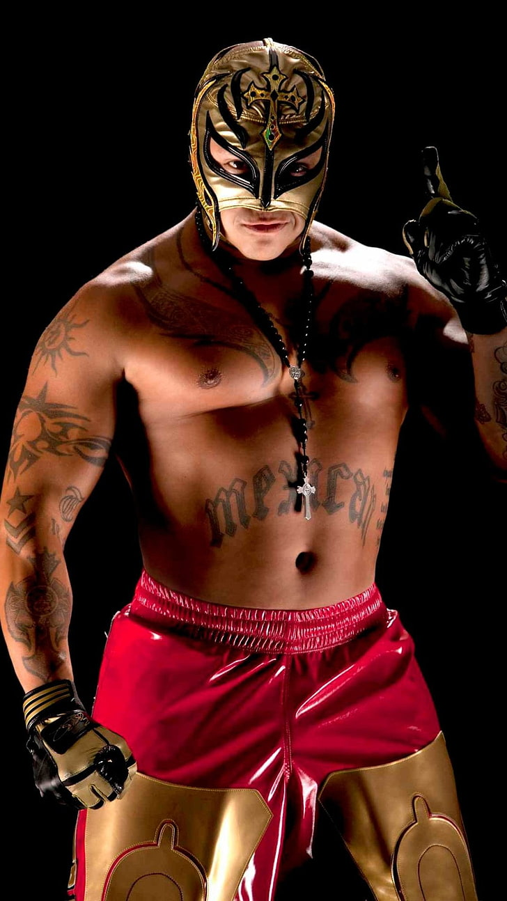 HD wallpaper Rey Mysterio WWE wrestler black background 728x1294