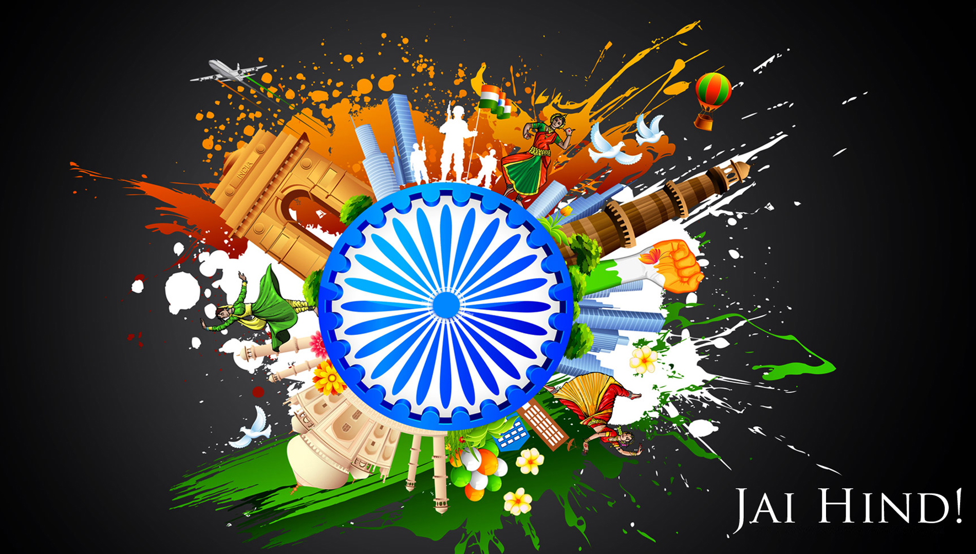 Click Here for Independence Day 2015 wishes HD wallpapers Images 1900x1080