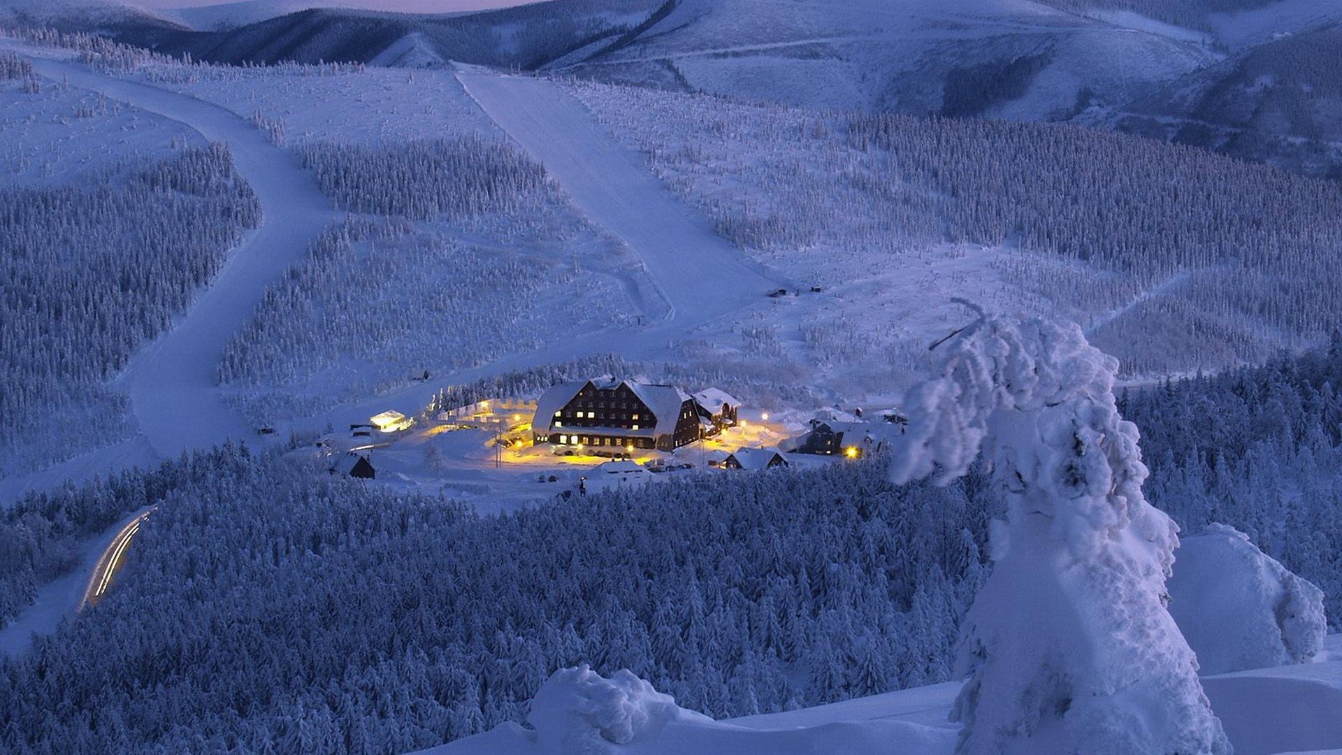 Alaska winter scene wallpaper wallpapersafari for Sfondi paesaggi invernali per desktop