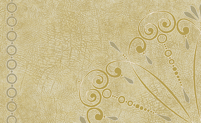Medallions Wallpaper in Metallic and Ivory Design by Carl Robinson 650x400