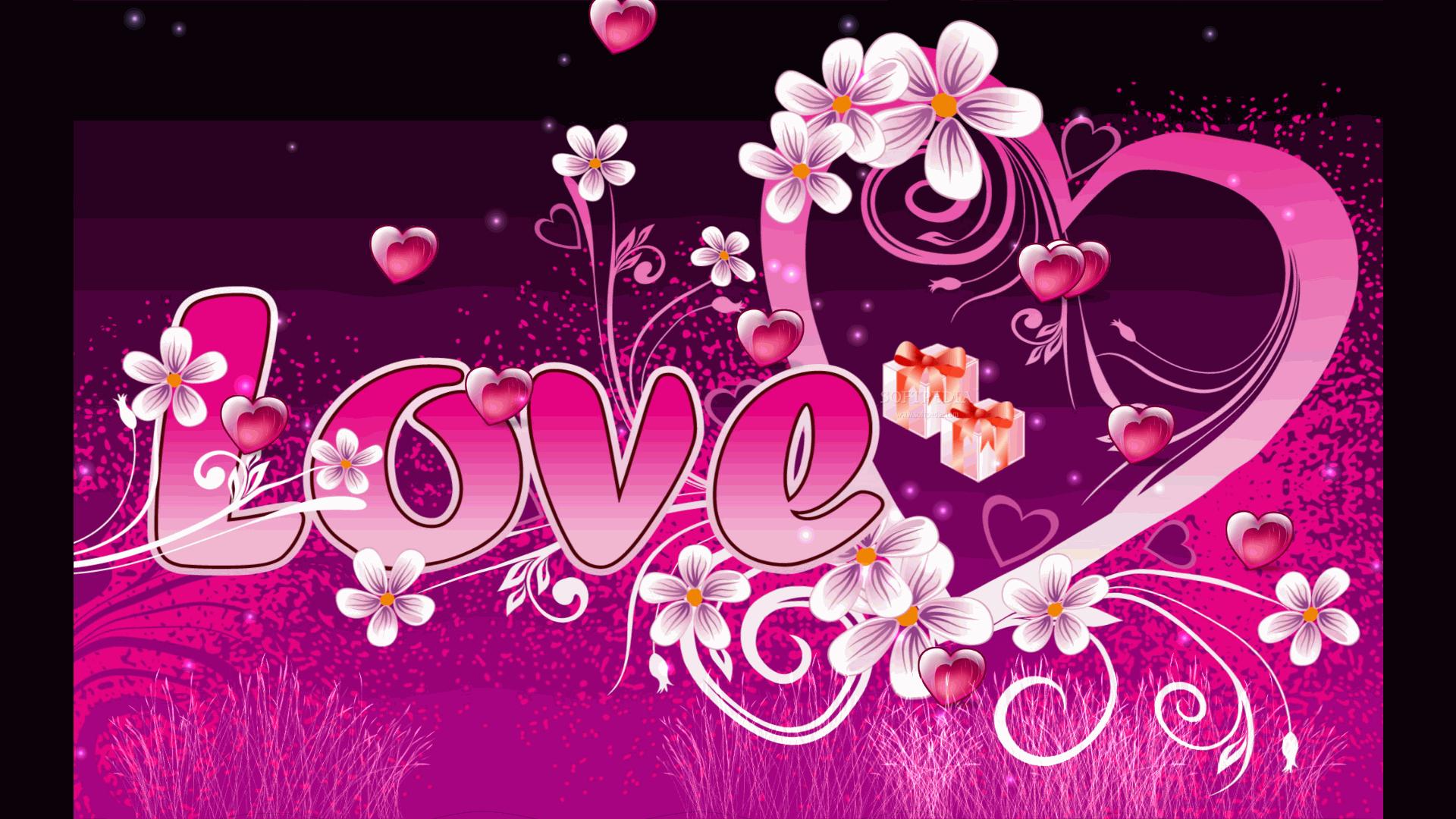 Screensaver Be My Valentine Displays A Beautiful Love 1920x1080