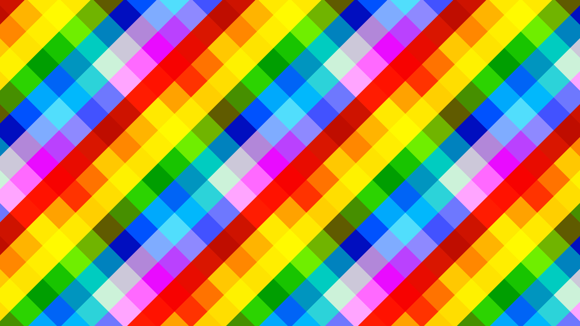 Pixel Art colorful square Background material Pictures 1920x1080