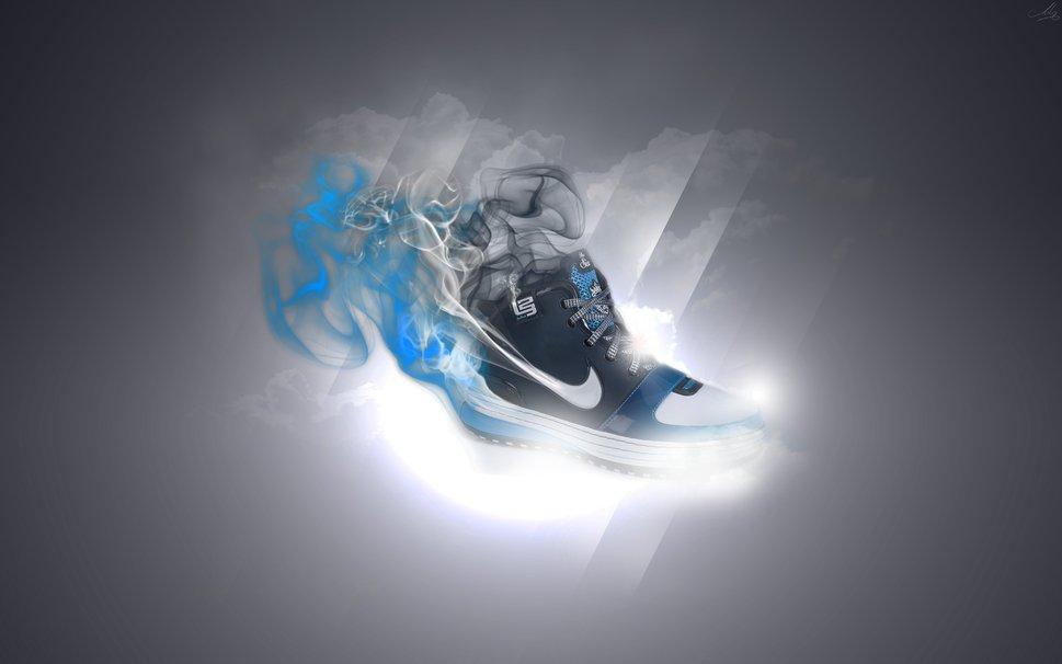 Nike sports shoe style shoes ornaments lights smoke running 969x606