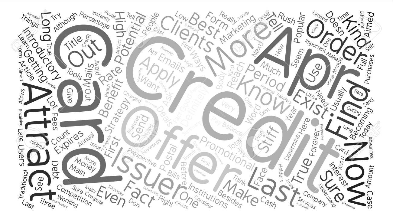 True Apr Credit Cards Do They Exist Text Background Word Cloud 1300x727