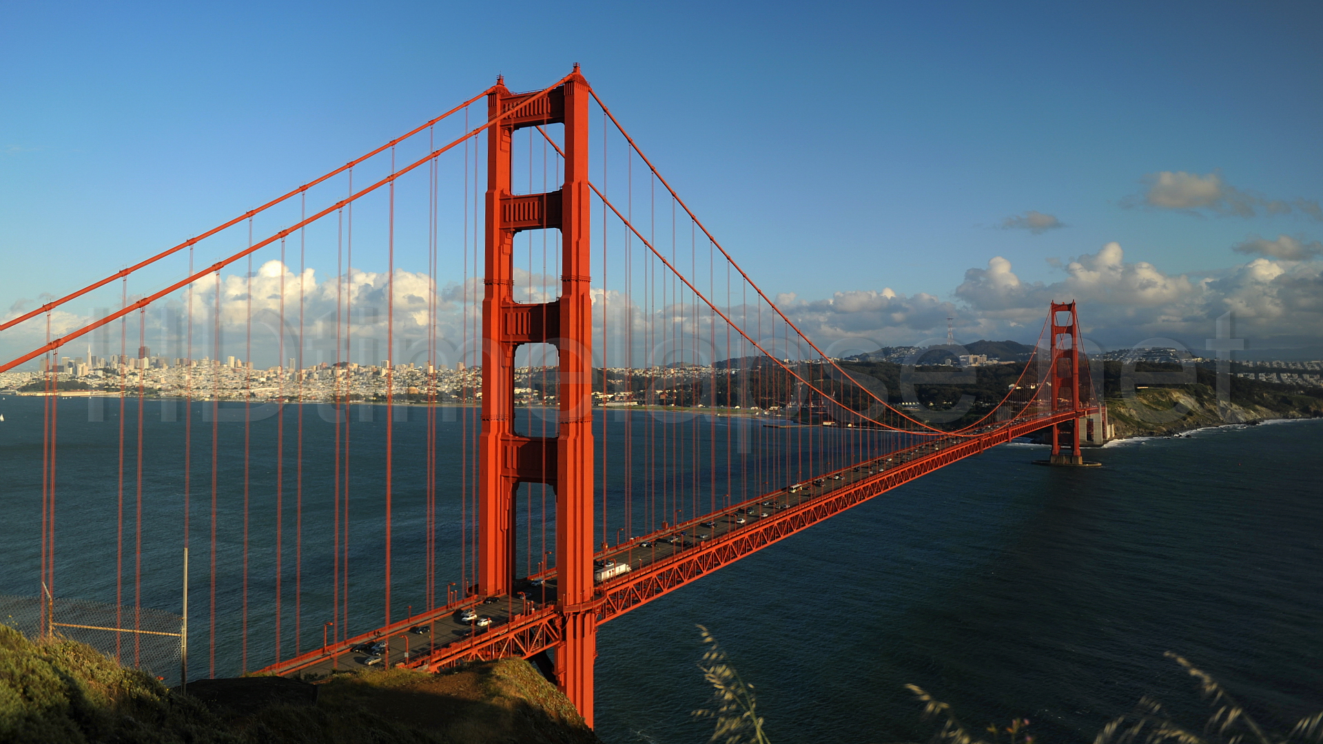 view cityscape san francisco bay golden gate bridge san francisco 1920x1080