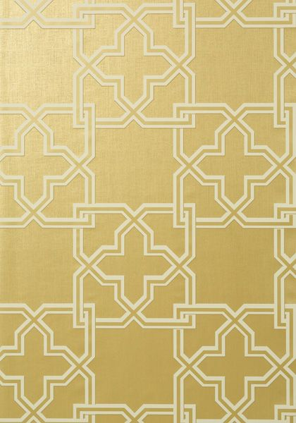 gold Pierson is a large scale 2 color interlocking trellis pattern 420x600
