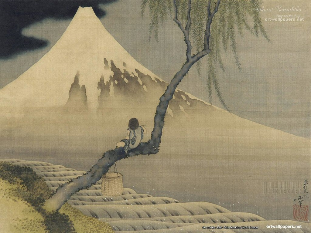 Katsushika Hokusai Wallpaper Full HD Widrescreen 1080p 1024x768